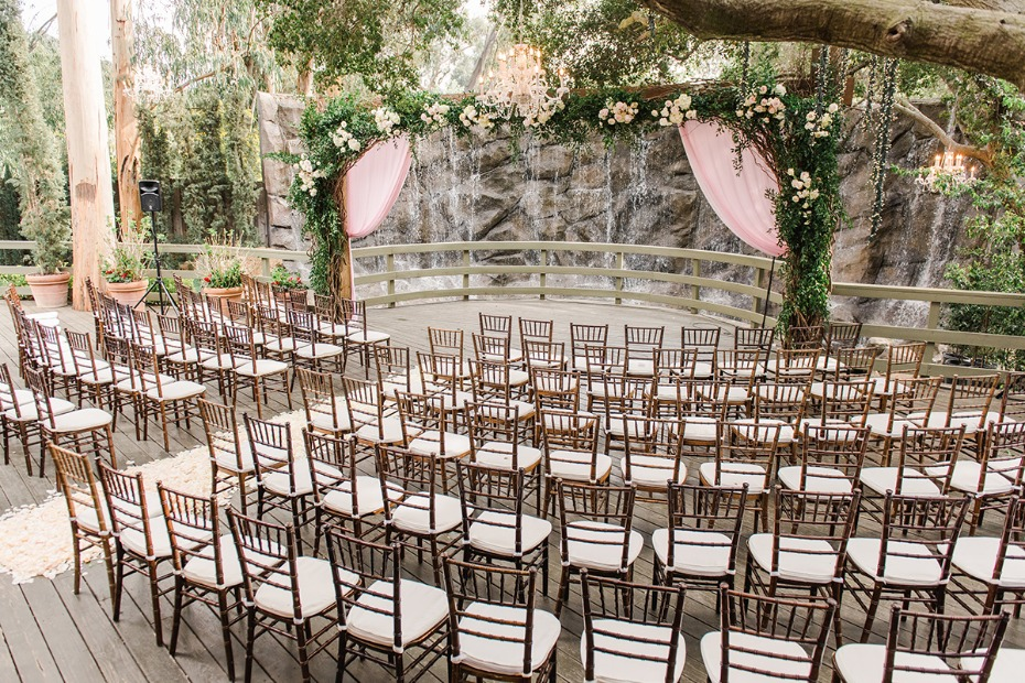 romantic outdoor wedding ceremony at Calamigos Ranch