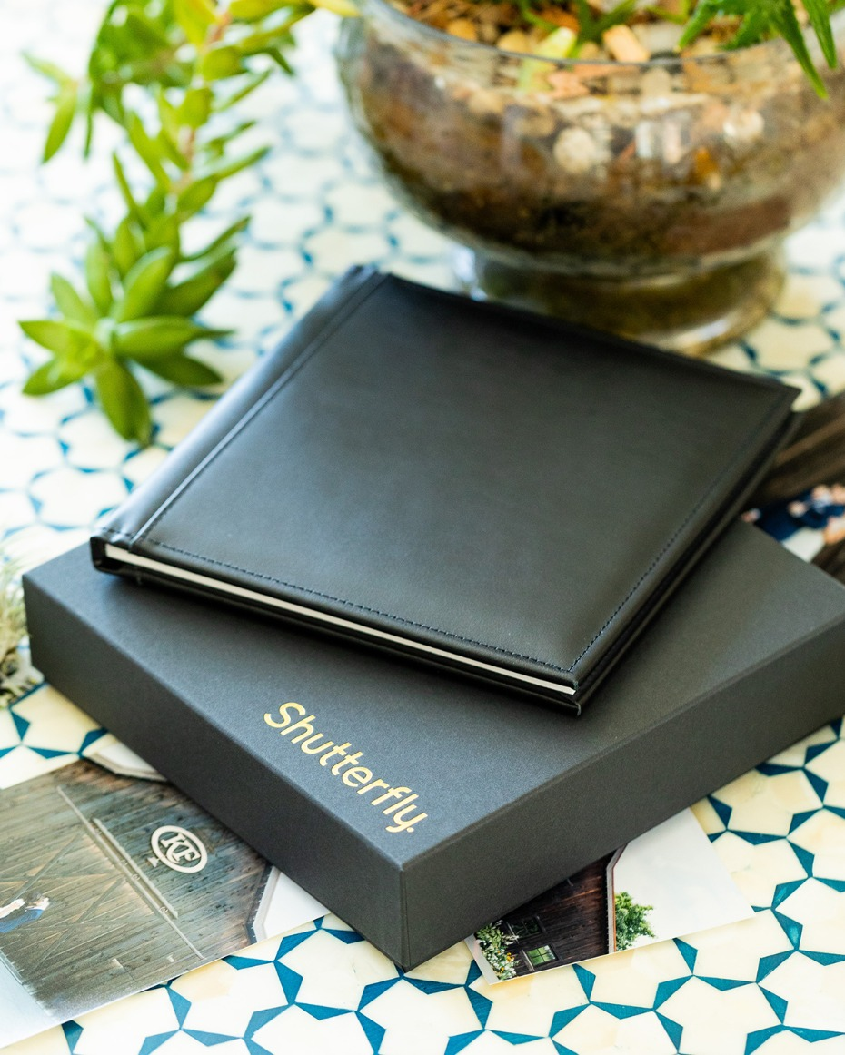 leather photo album from Shutterfly