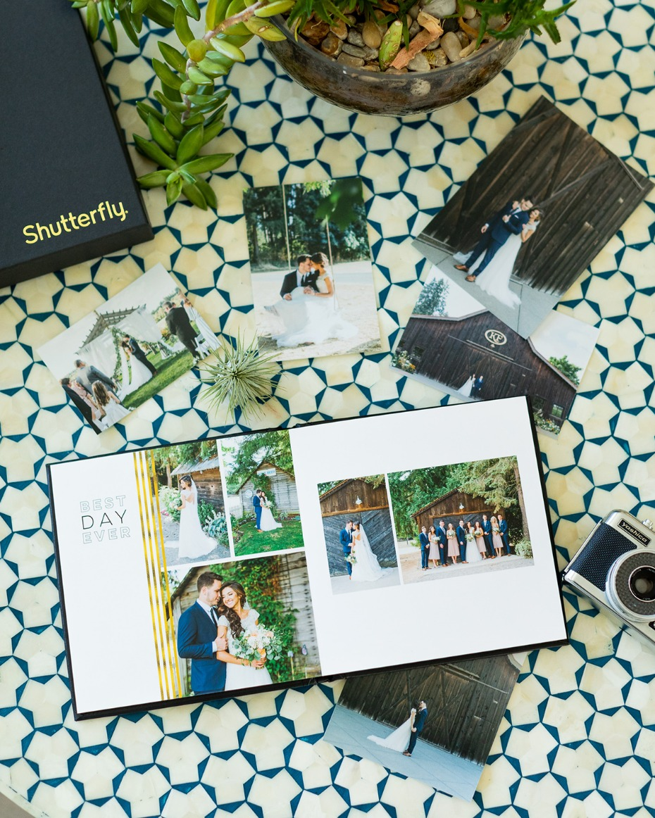 Shutterfly designed photo album.