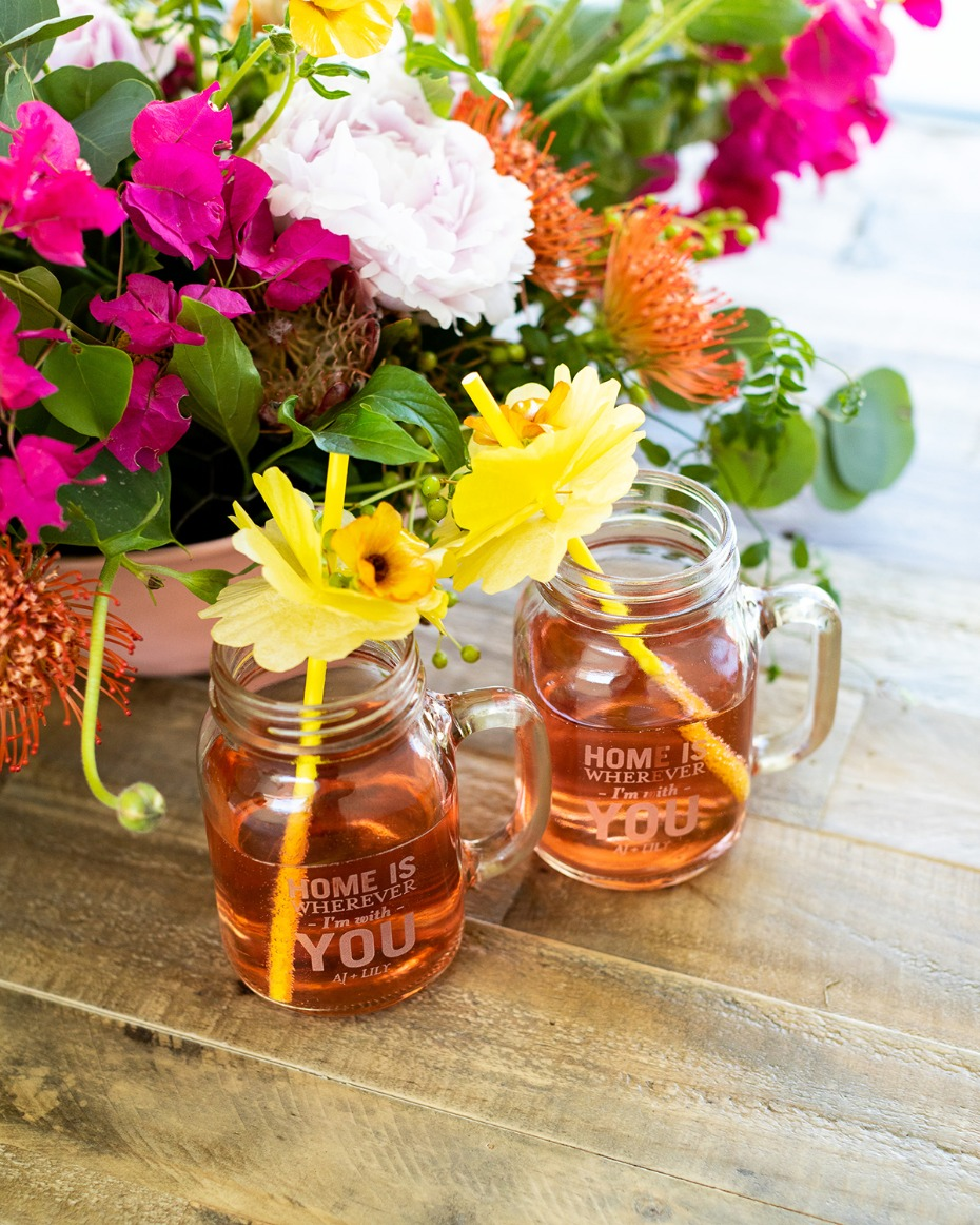 personalized mason jar mughs