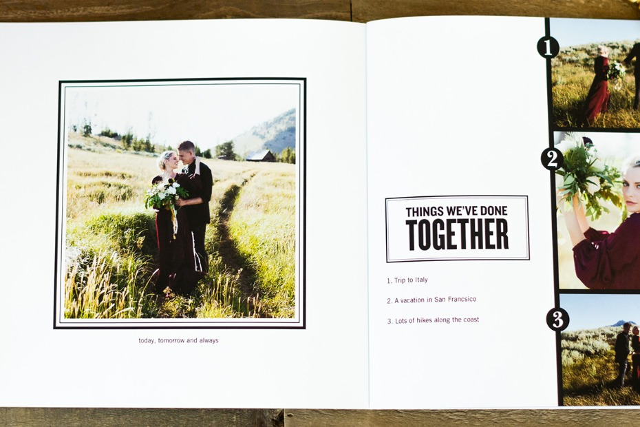 personalized proposal photo book from Shutterfly