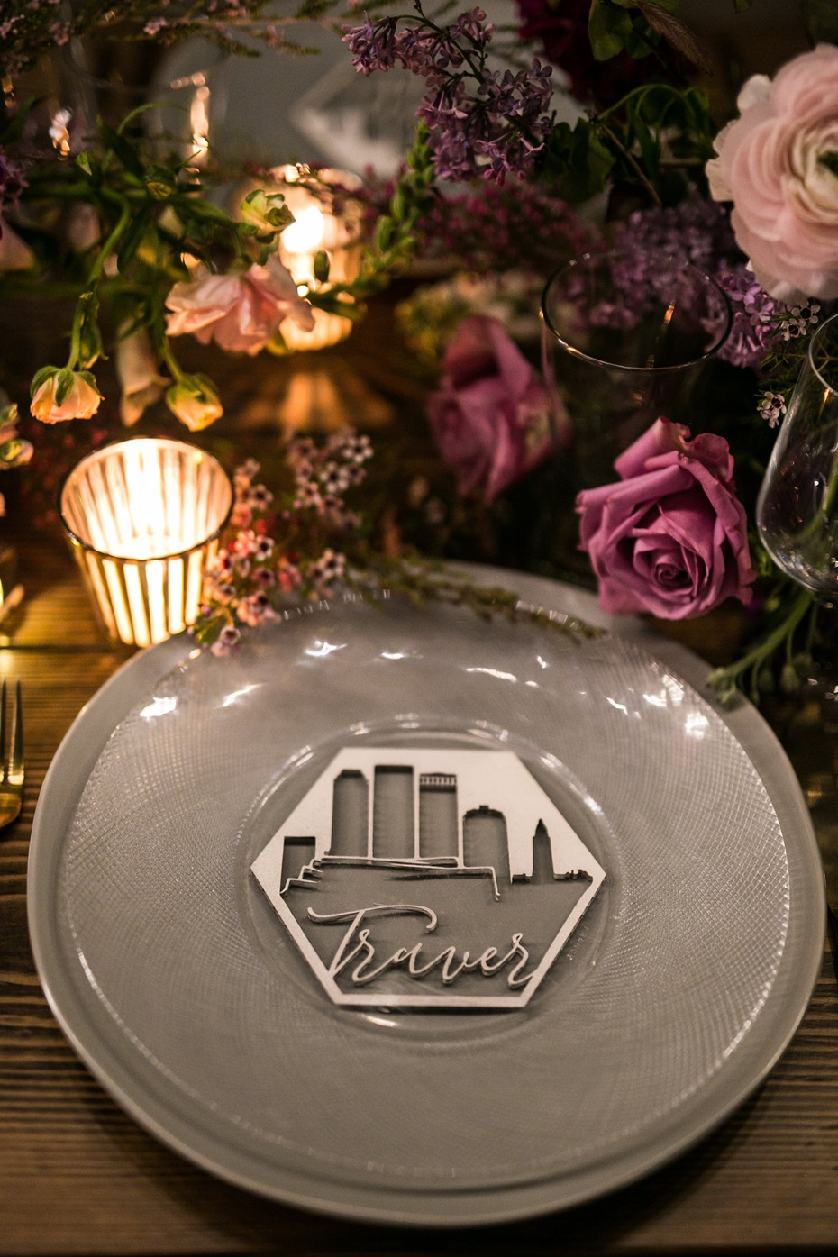skyline place cards