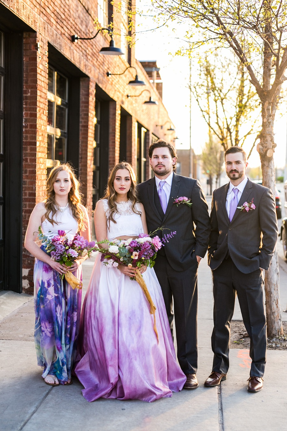 ultraviolet and watercolor wedding party