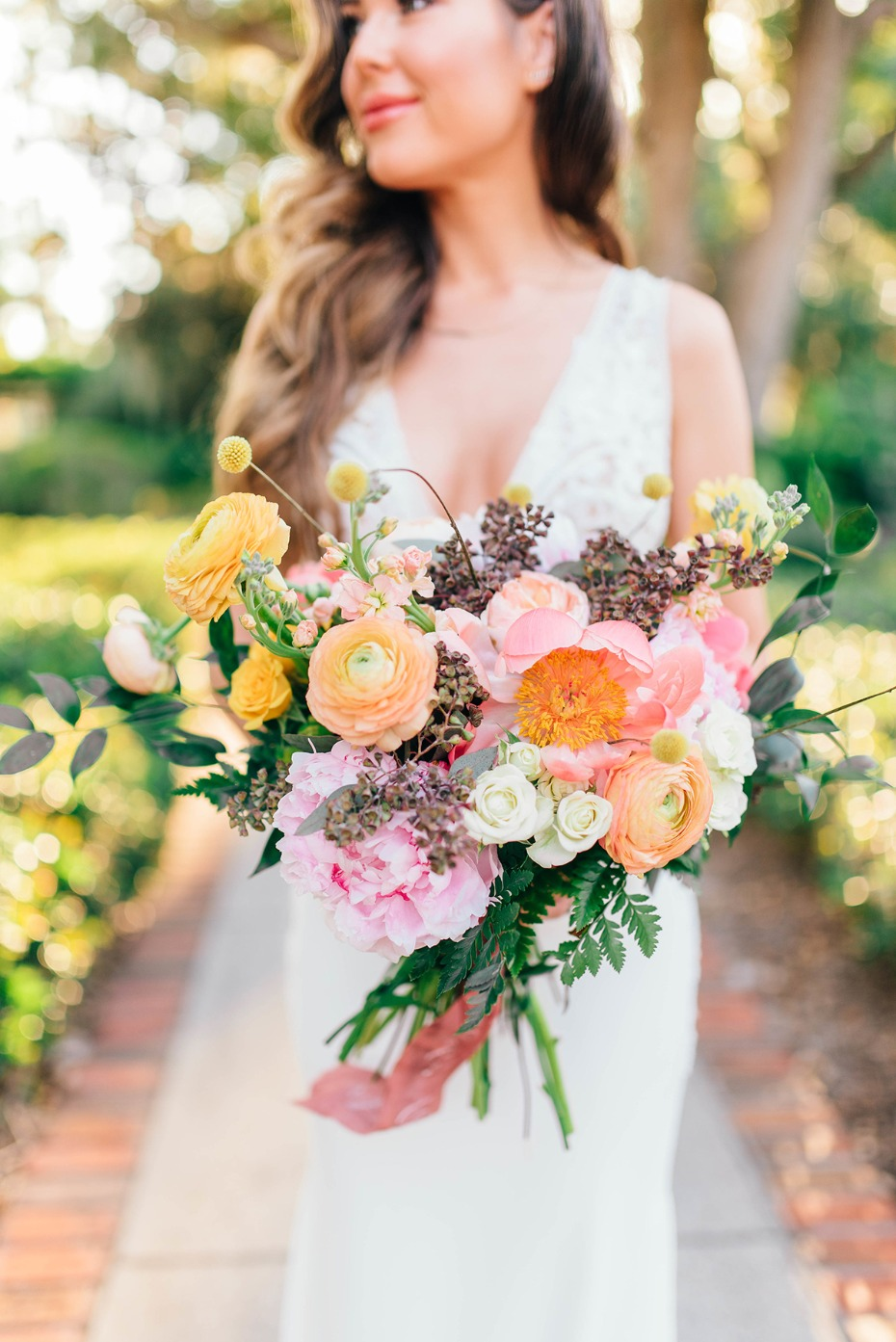 summer time wedding bouquet