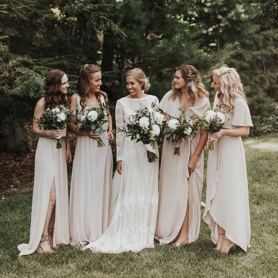 Natural bridesmaid dresses