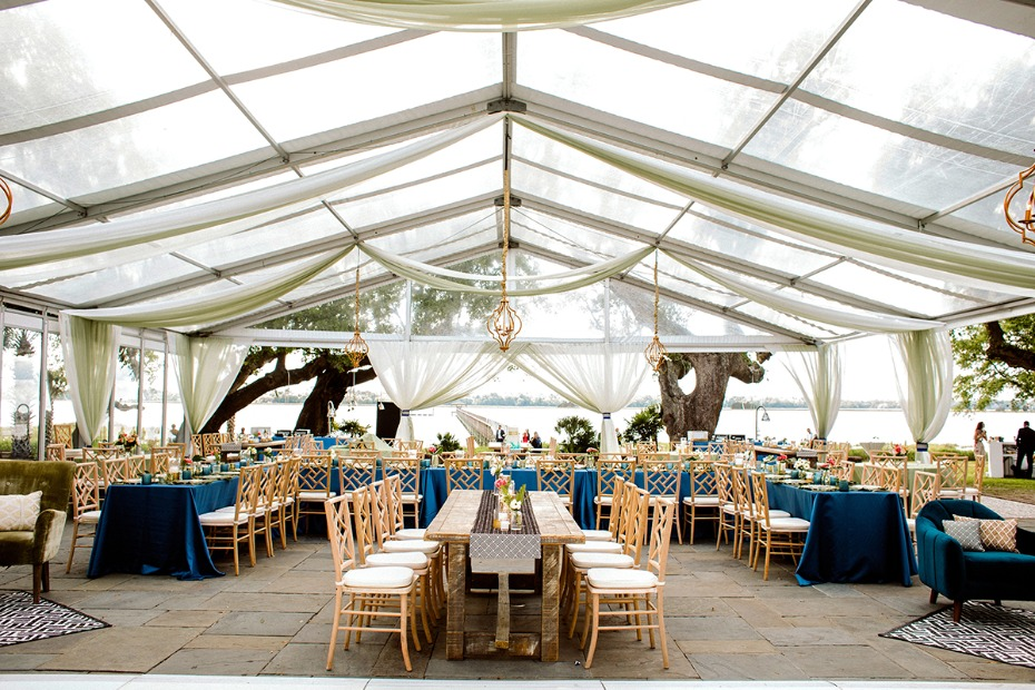 tented boho chic wedding reception