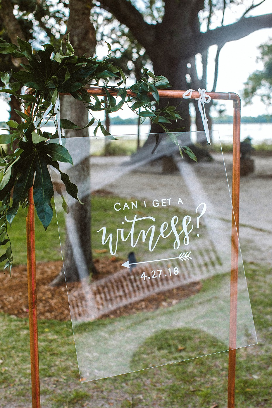 cute can I get a witness wedding sign