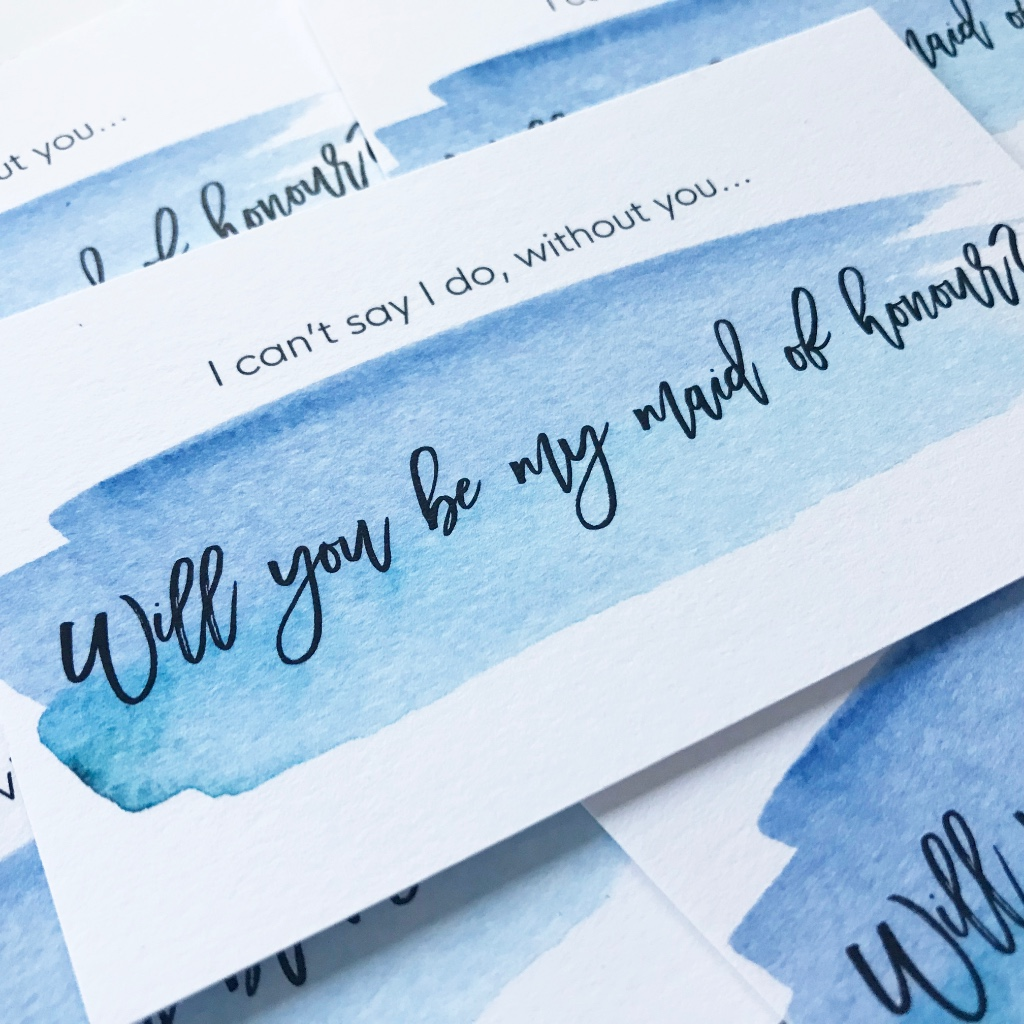Perfect way to ask your bestie to be your Maid of Honour!!