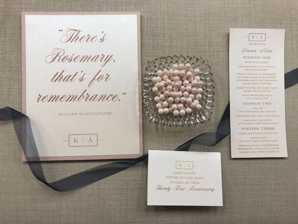Incorporating Shakespeare into your wedding accessories is always the best idea.