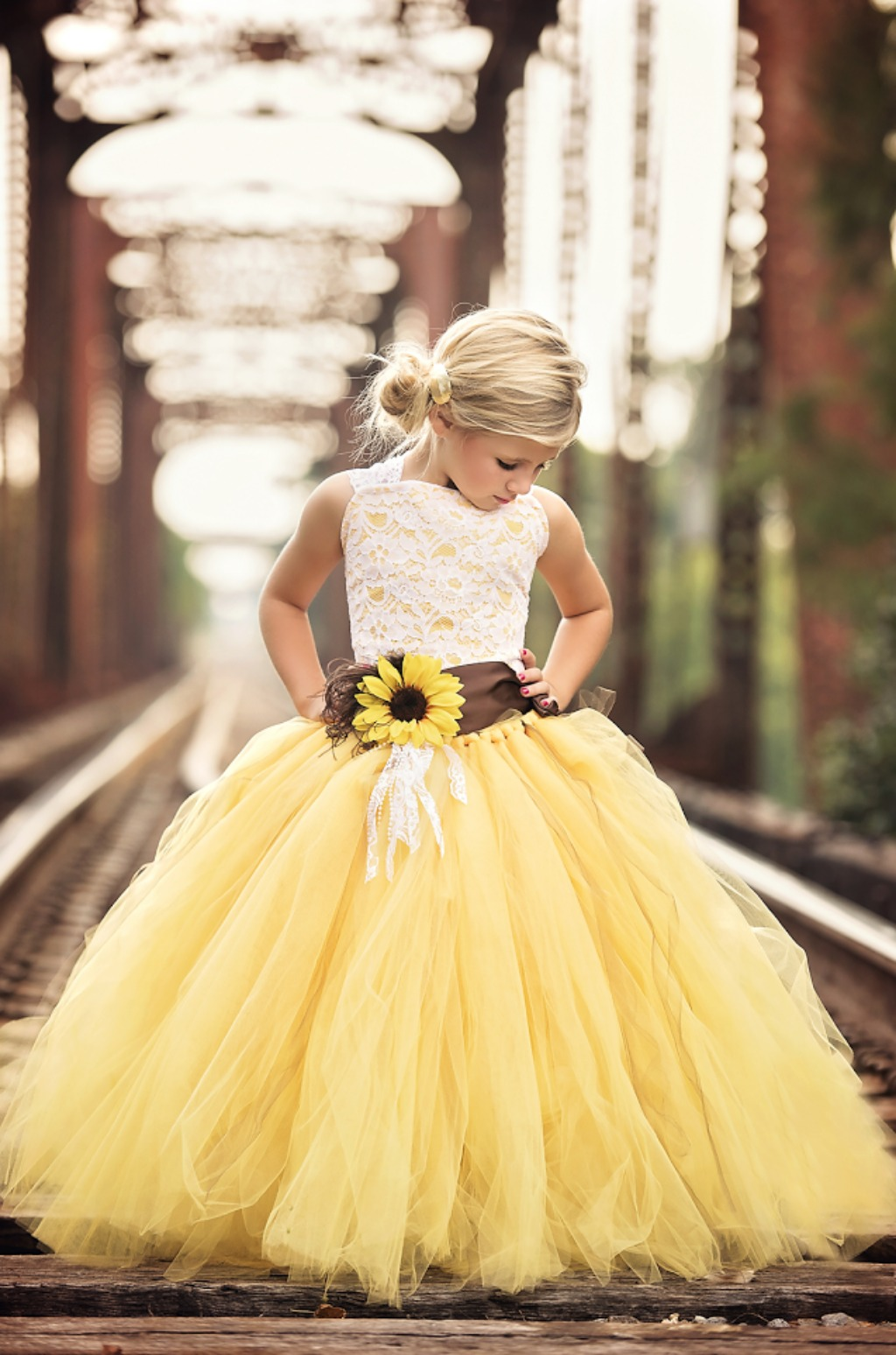 Summer to fall our sunflower dress is perfect for your wedding. Sash color is also available in navy, black, royal blue and white