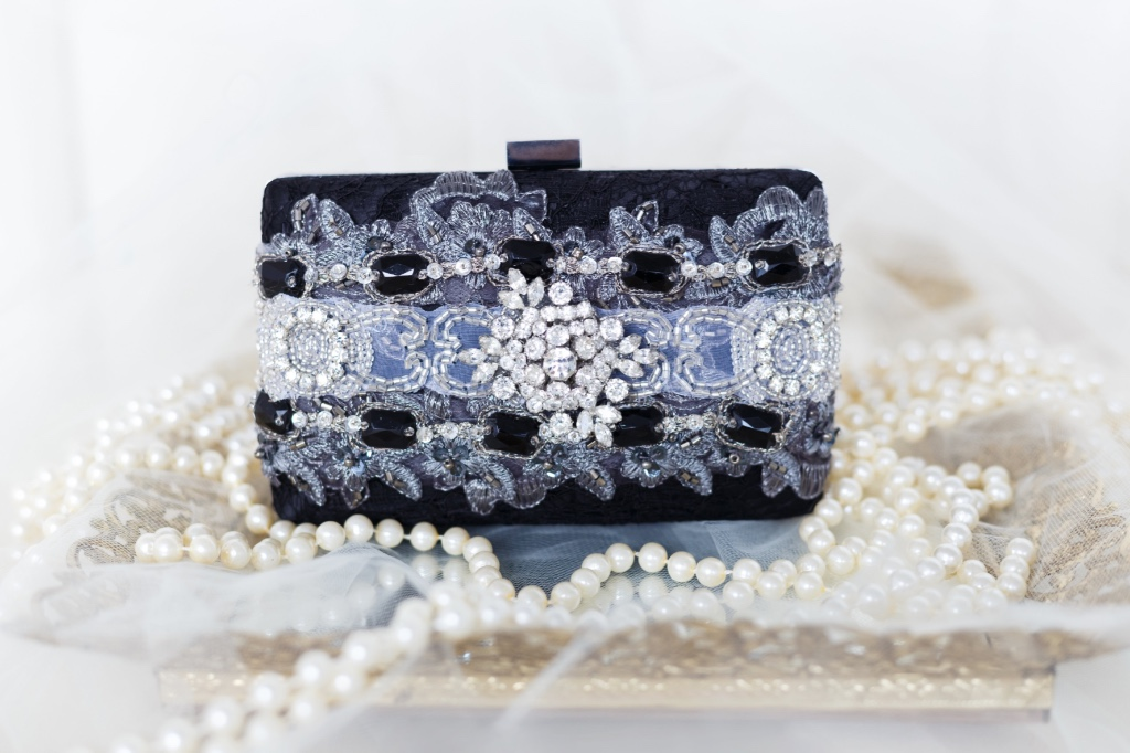 Rehearsal dinner clutches that are so glamorous.