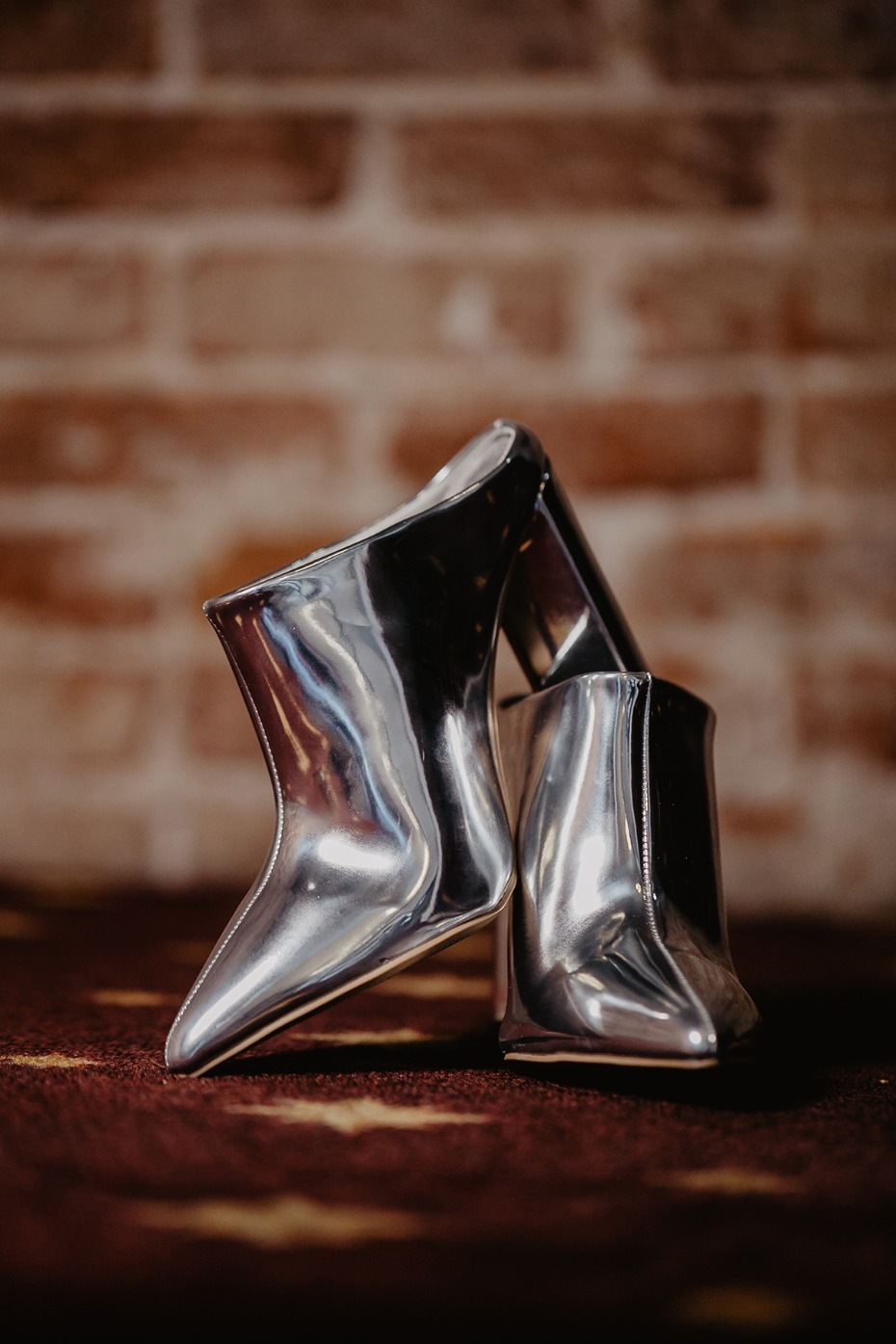 space age wedding shoes