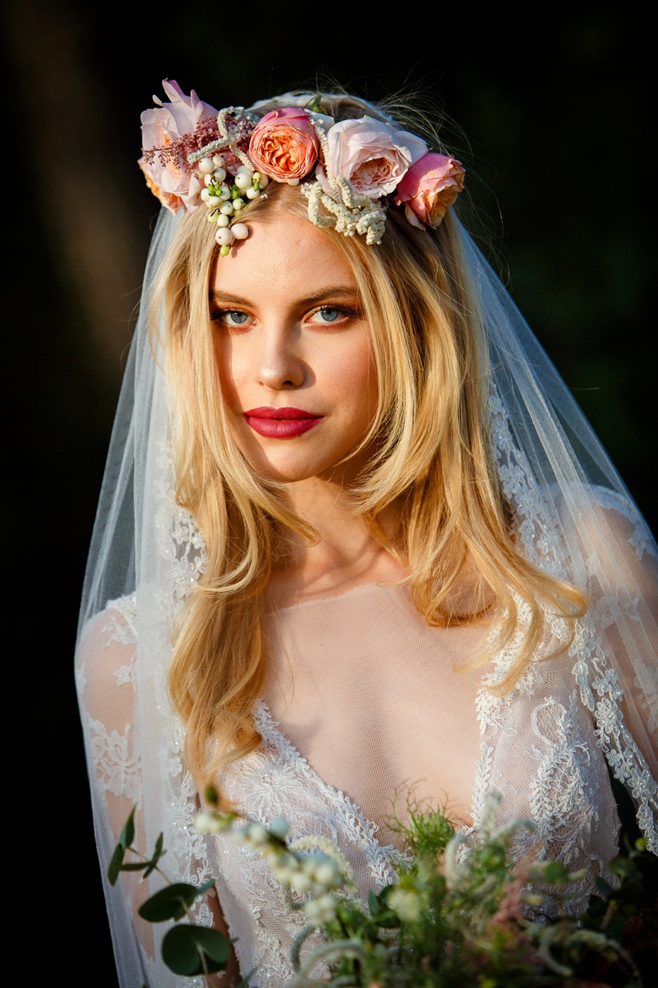 flower crown for your bridal style