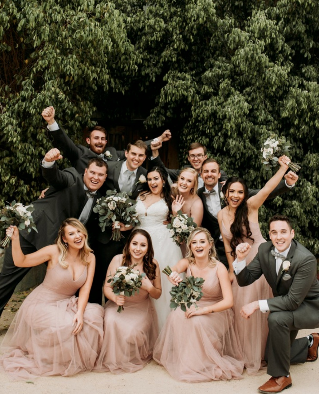 raise your hand if you never want the #weddingweekend to end 🙋‍ featuring the brielle #jycbrielle in cameo pink 💘 #jennyyoobridesmaids