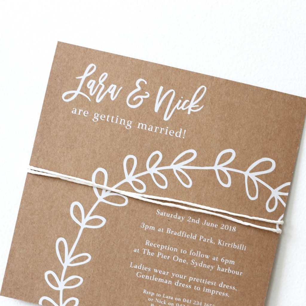 "The ""Let's Be Playful"" Invitation Design is perfect for a rustic/boho themed wedding!"