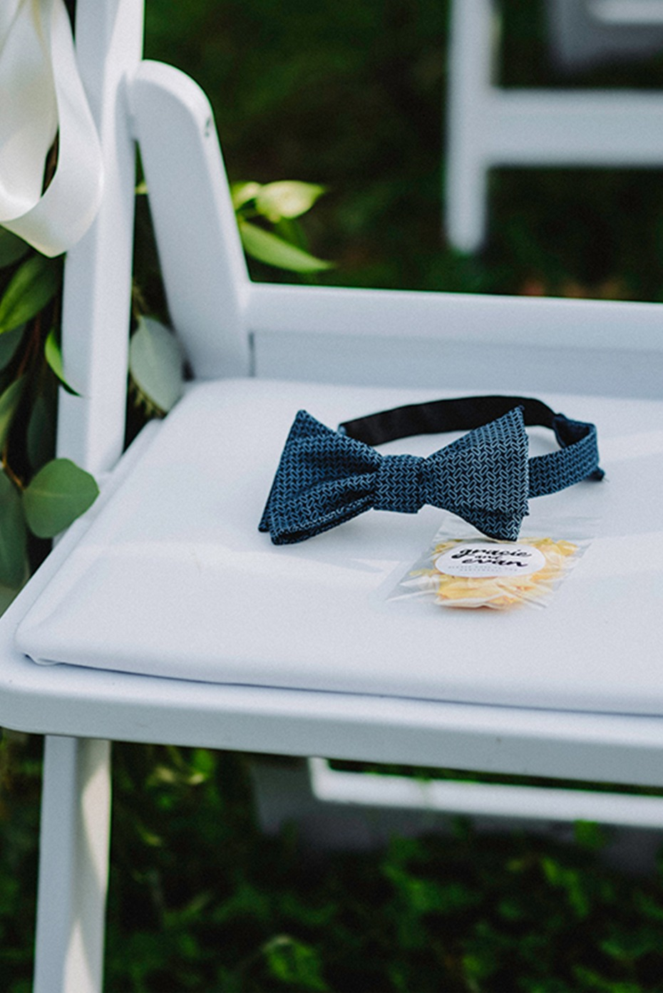 memorial bow tie for the father of the bride