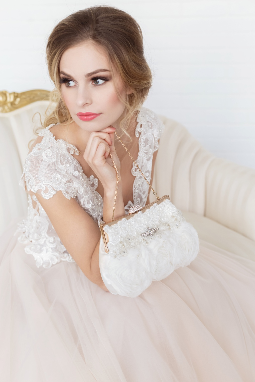 Beautiful Couture clutches made for a glamorous bride