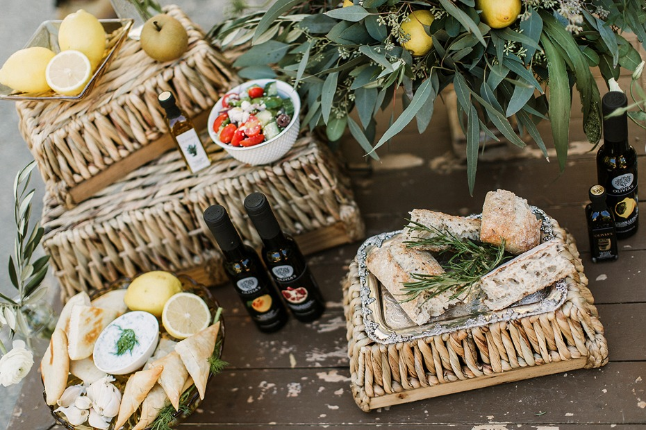 greek style wedding snack bar