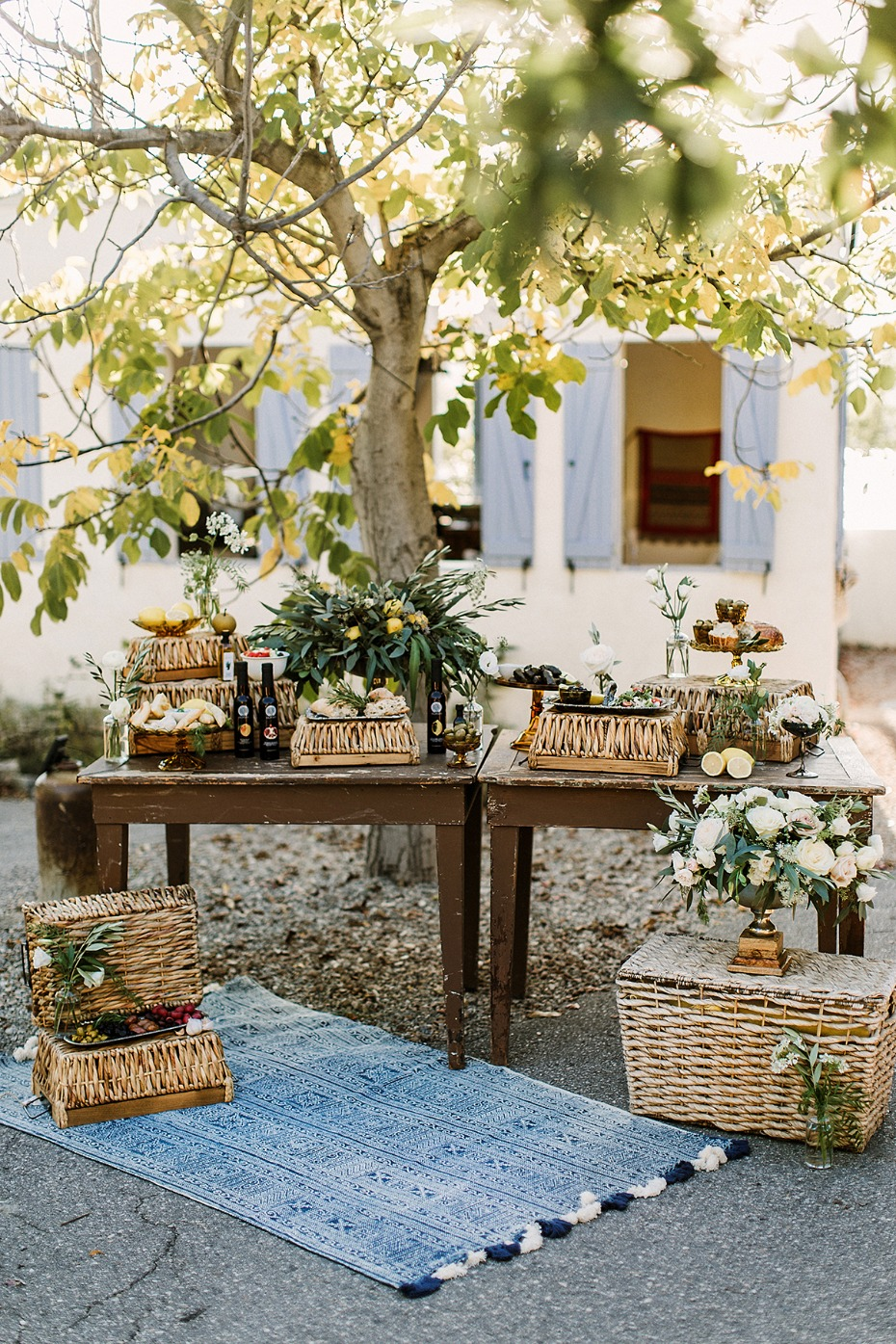 basket greek wedding snack bar