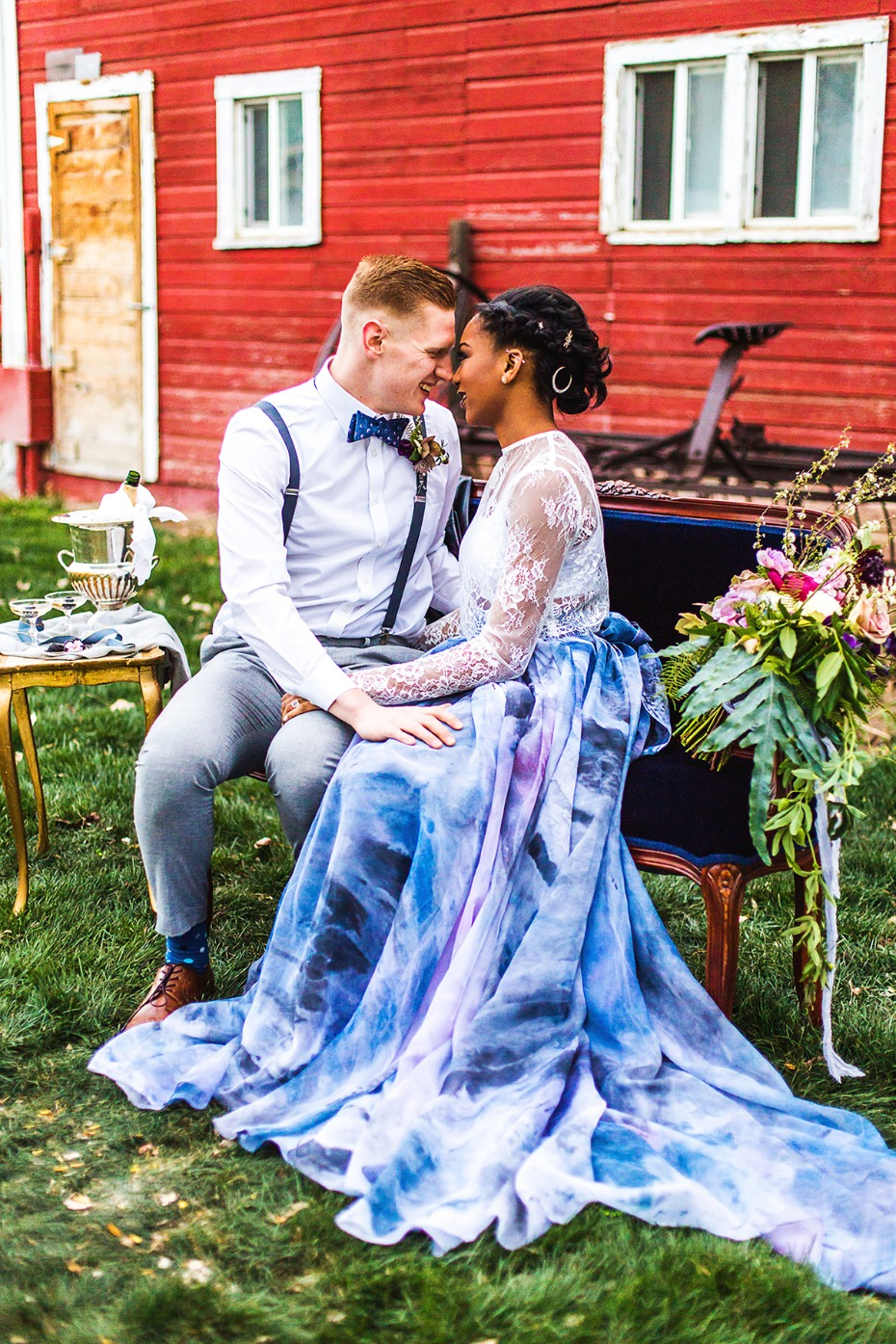 watercolor wedding skirt