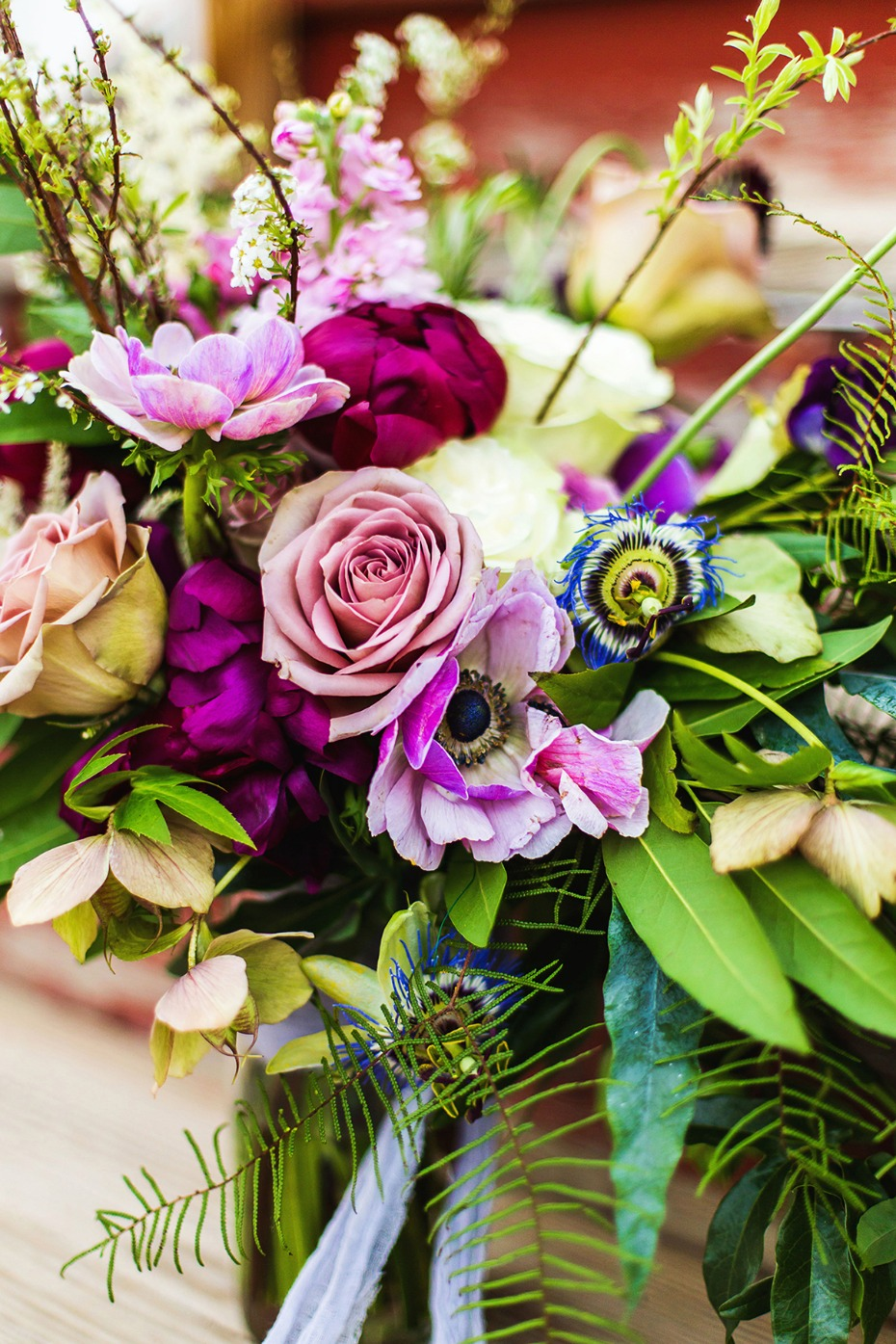 pink and fuchsia wedding flowers