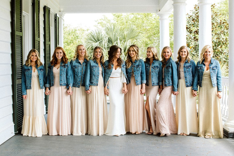 Bridal Party in Jean Jackets