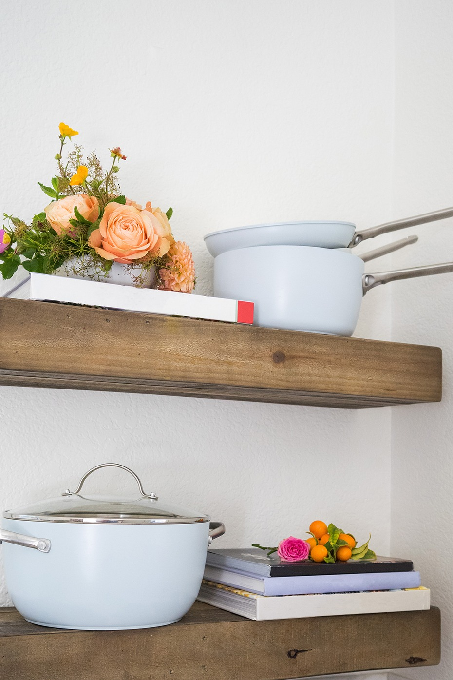 Add these white pots and pans to your Crate and Barrel Wedding Registry