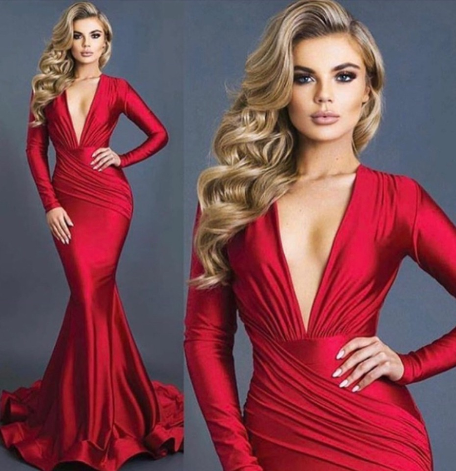 Red Hot Bridesmaids Dresses by Jessica Angel