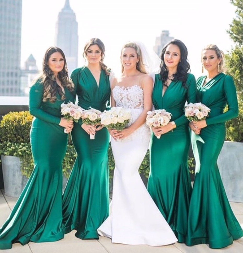 Emerald Green Bridesmaids Dresses by Jessica Angel