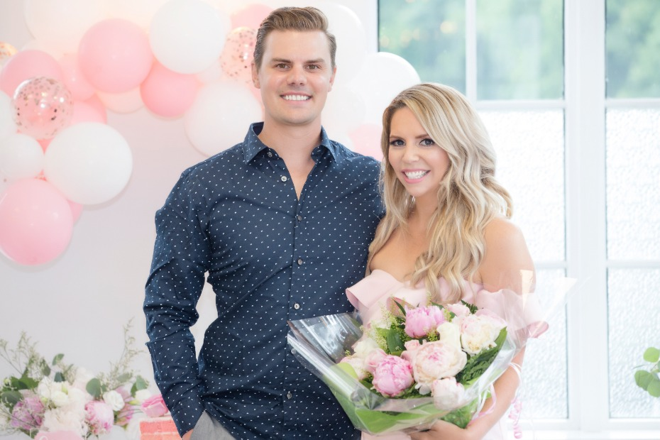 pink and white bridal shower