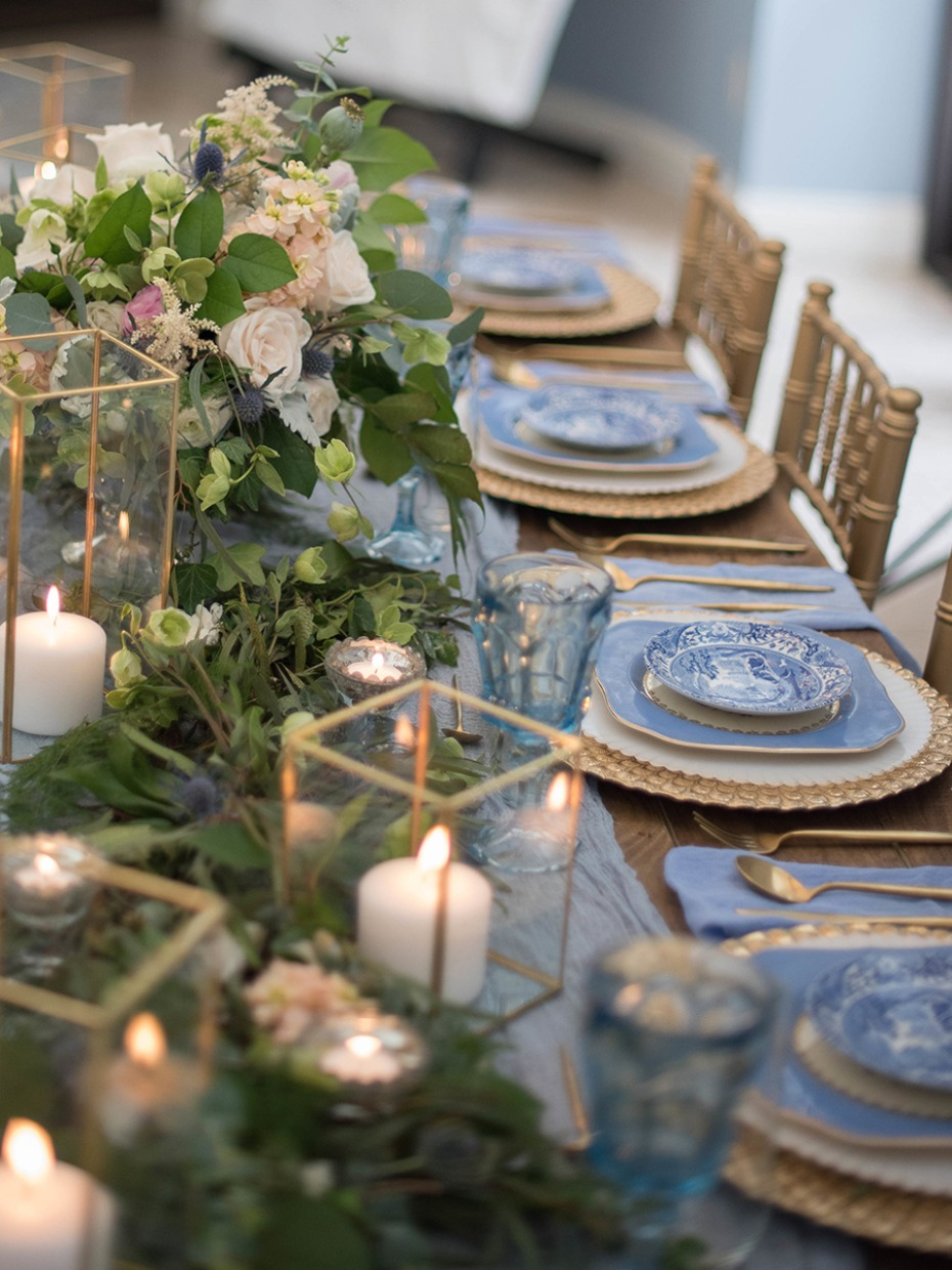 How To Have A Dusty Blue Wedding During Any Season
