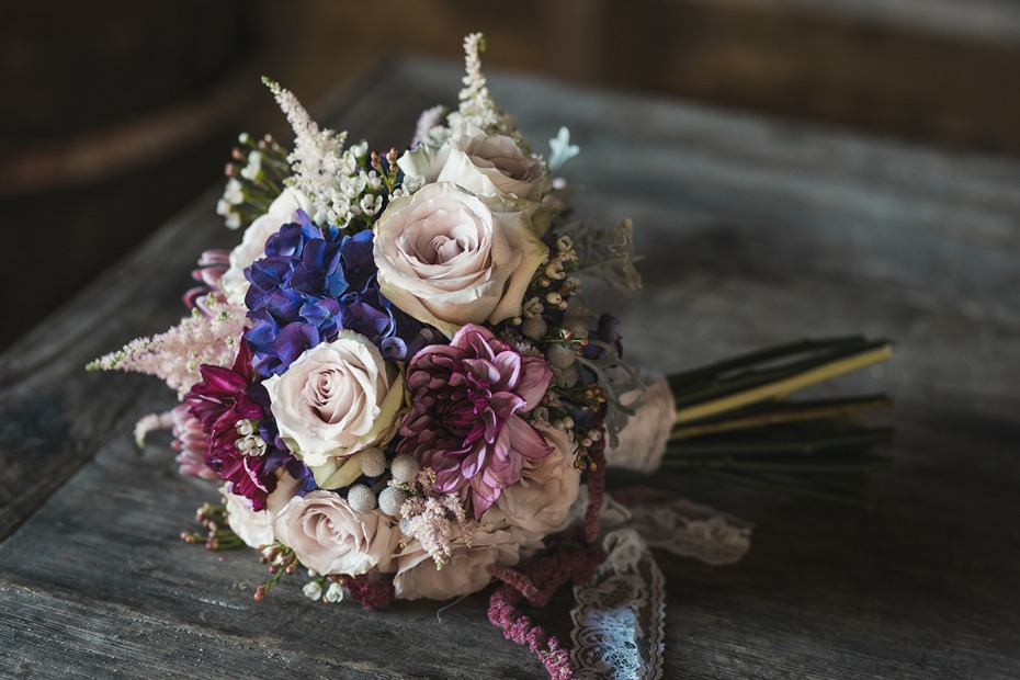 boho inspired wedding bouquet