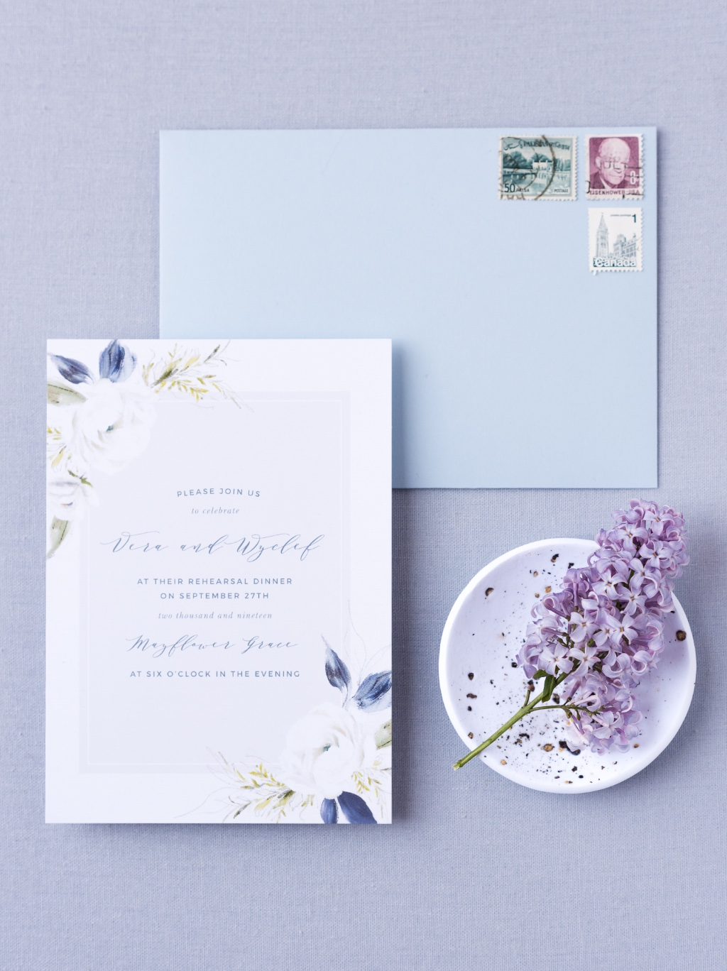 The most beautiful floral wedding invitation for the botanical-loving bride. The Oil Paint Textured Wedding Invitation is a gorgeous