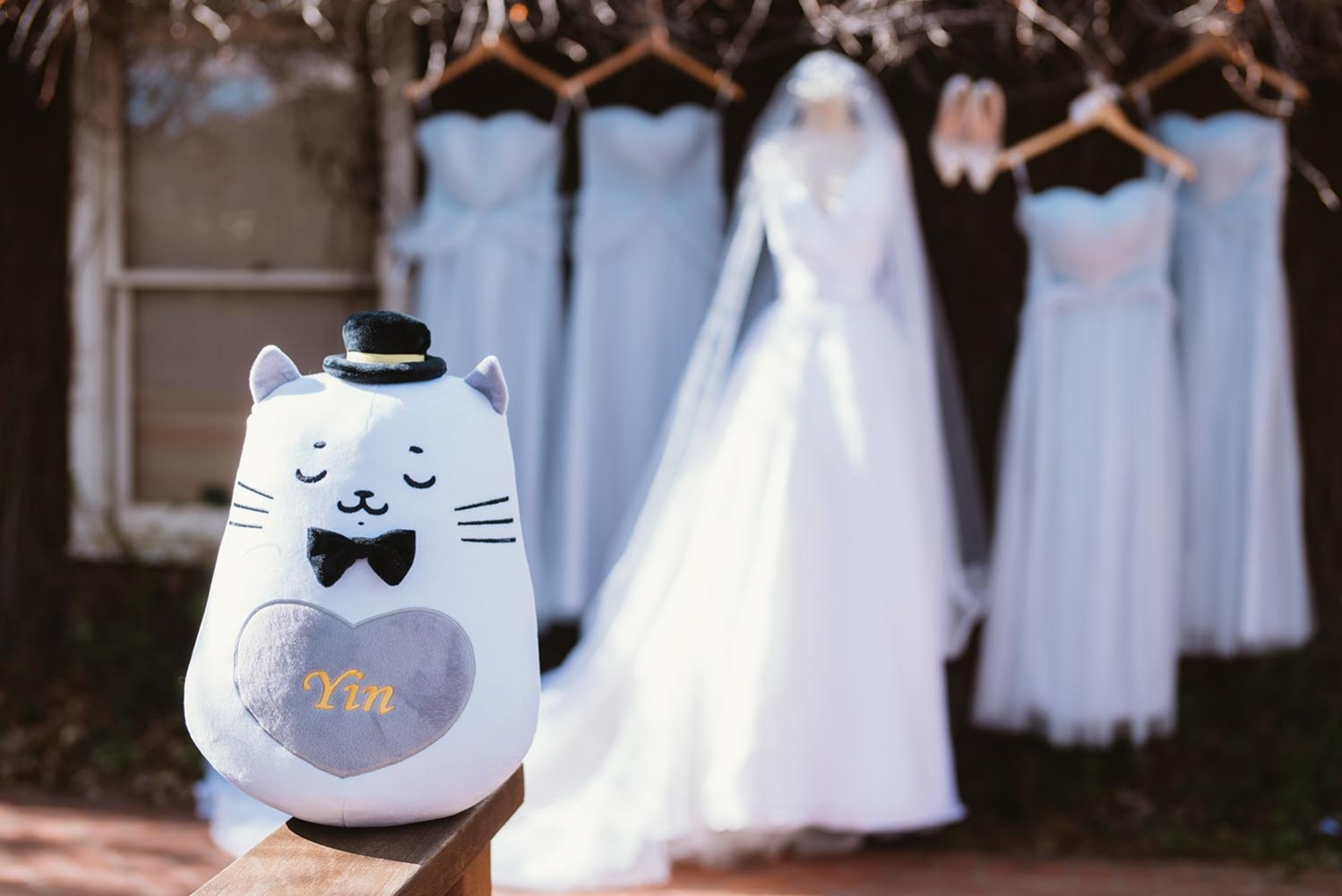 plushie cat wedding favor