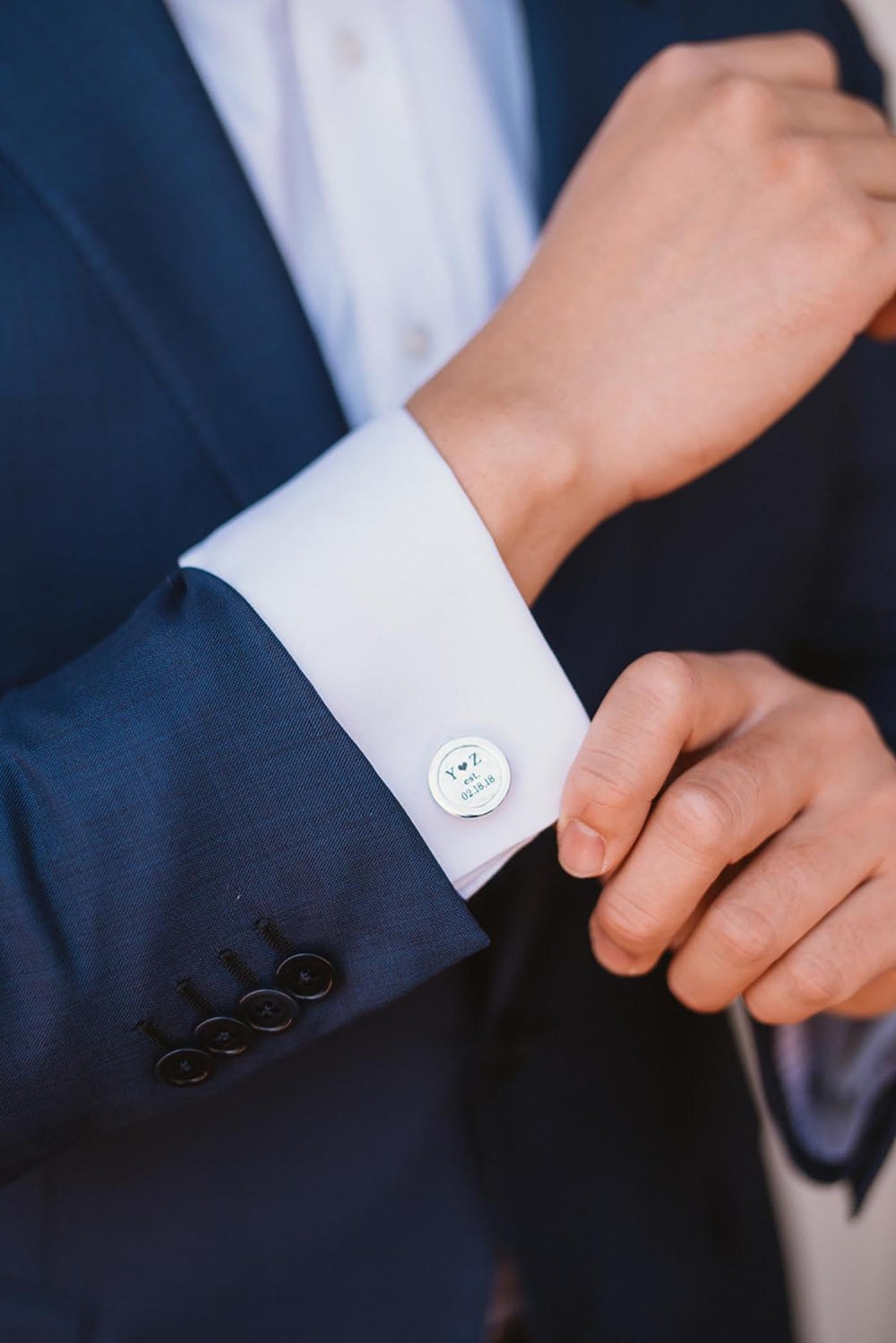 custom wedding cuff links