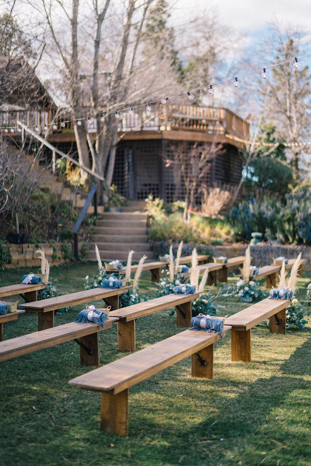 simple and chic wedding ceremony seating