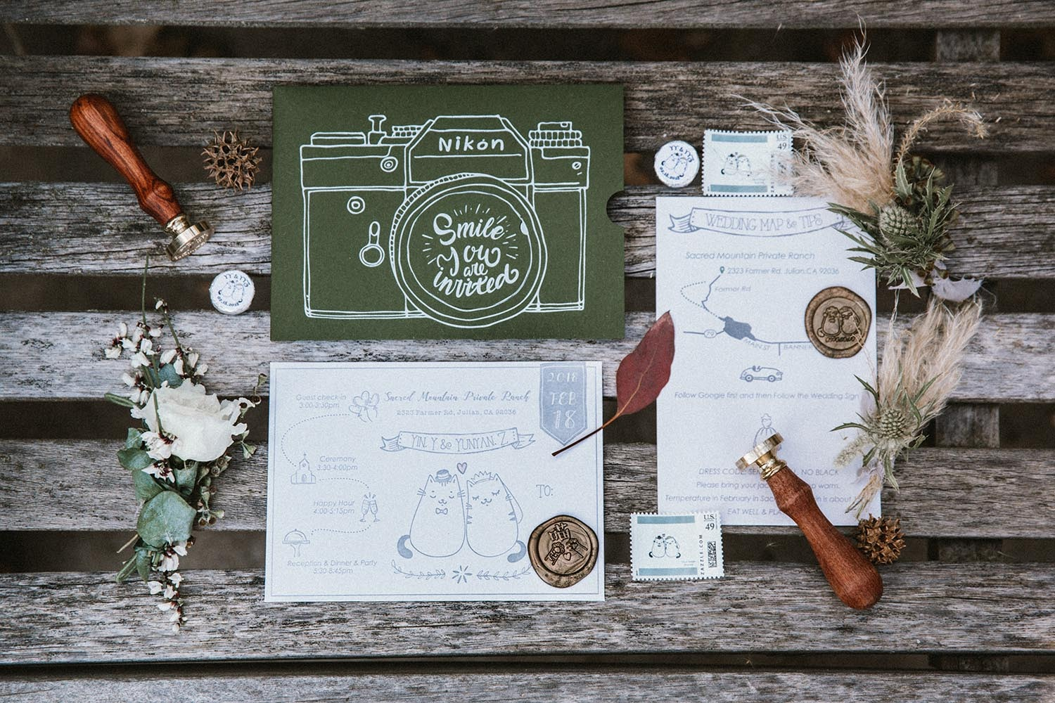 sweet custom wedding invitations