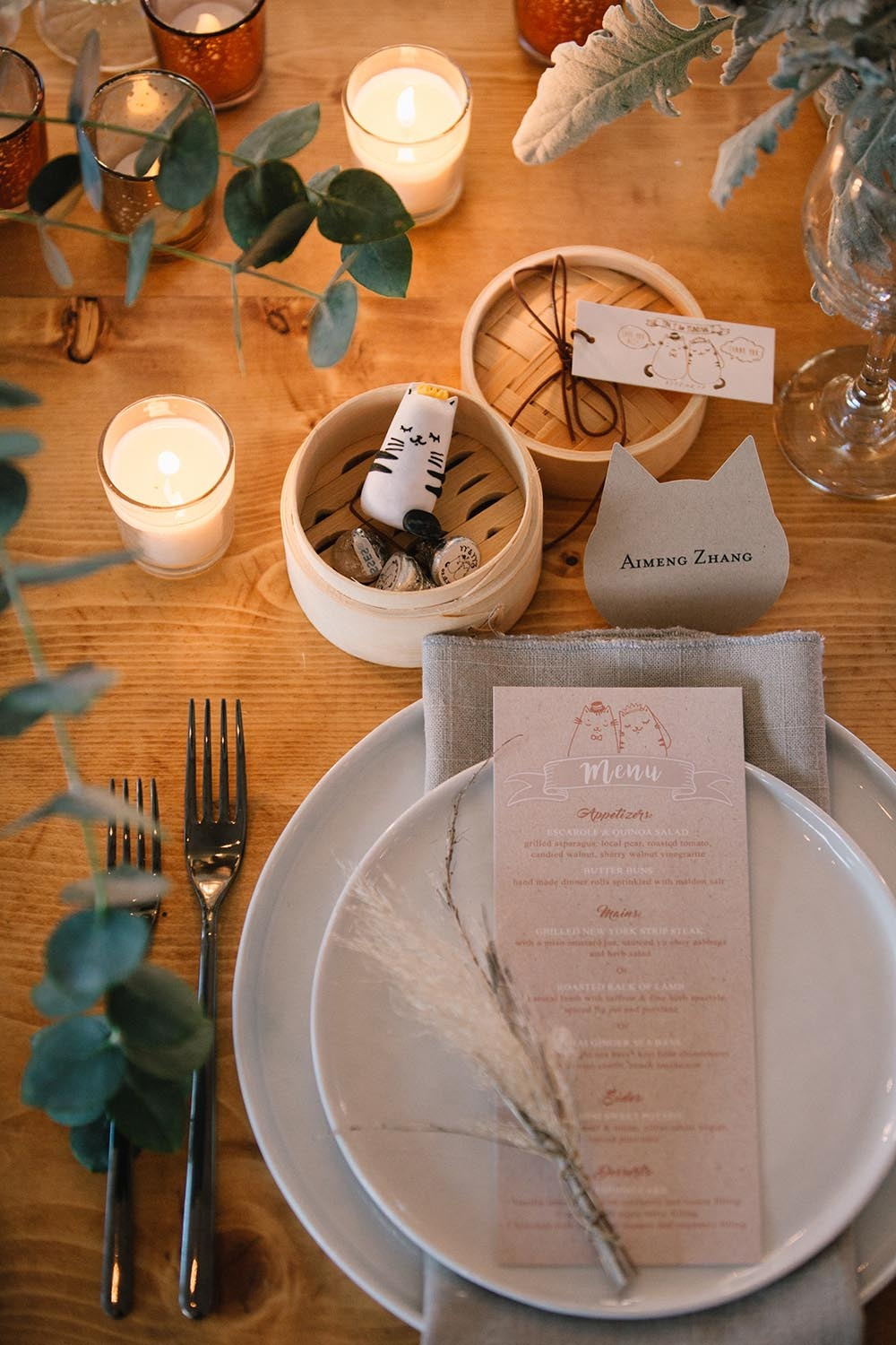 neutral color palette wedding place setting