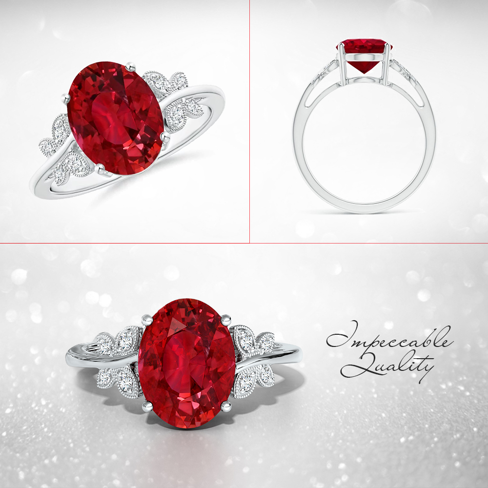 This beautifully crafted ruby ring is the perfect luxury accessory for women looking for elegance with a hint of playfulness. The 4