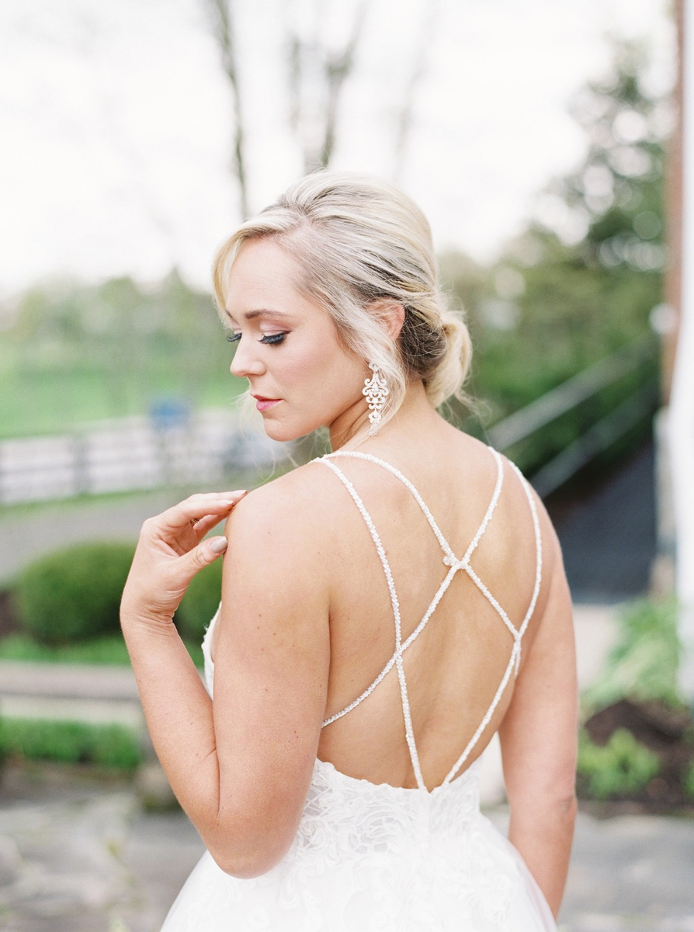 strappy backed wedding dress
