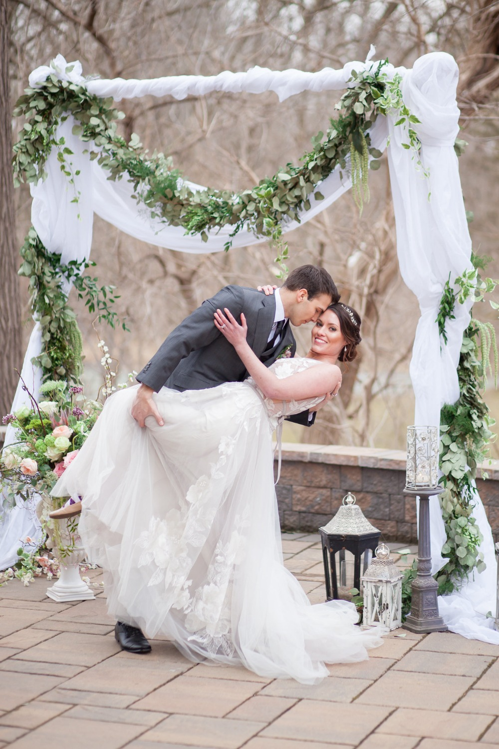 wedding backdrop with a romantic vibe