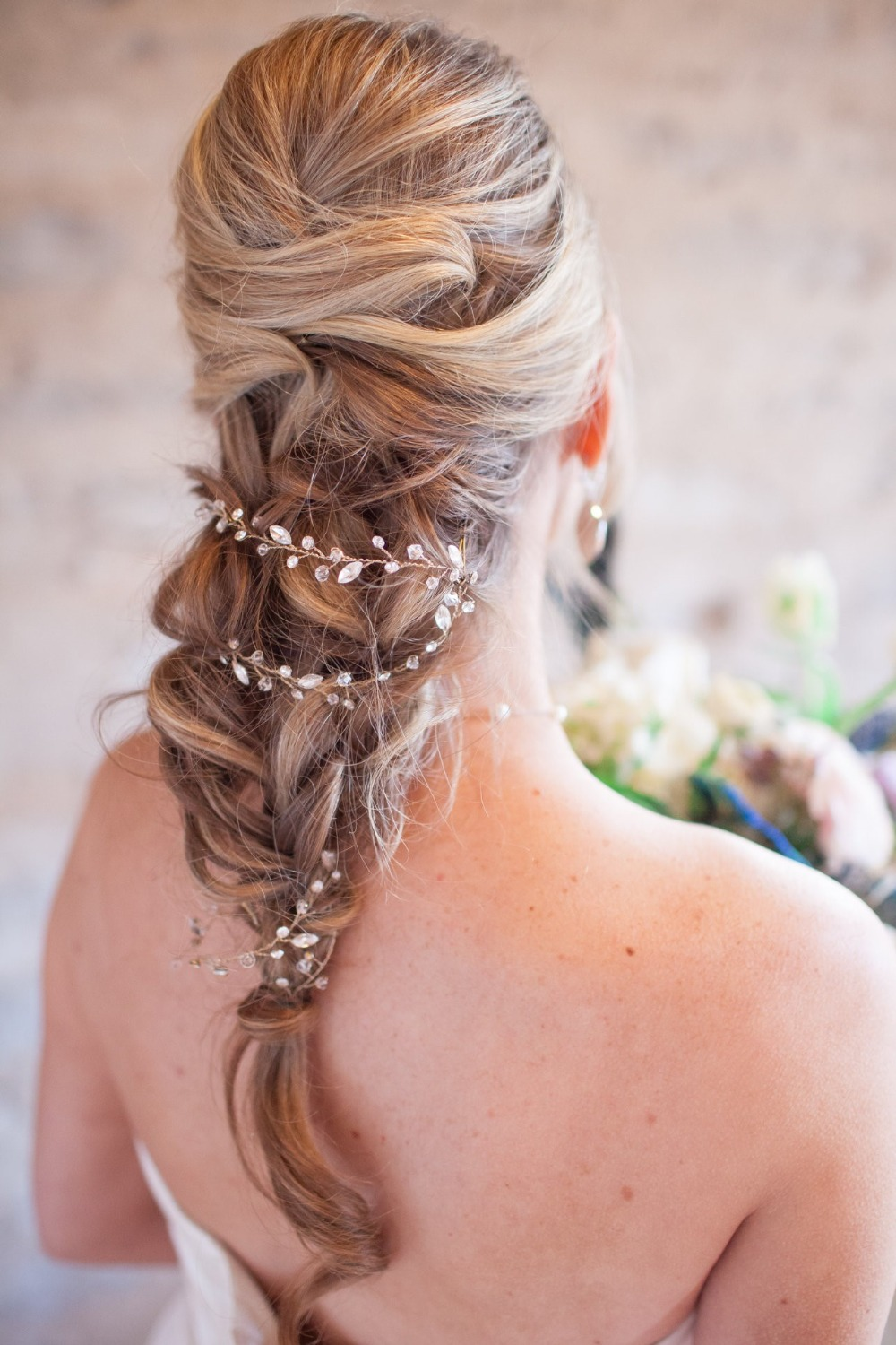 wedding hair chains