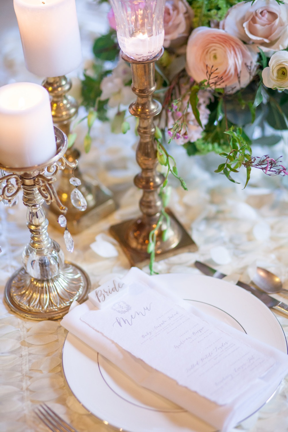 wedding china and glamorous place setting