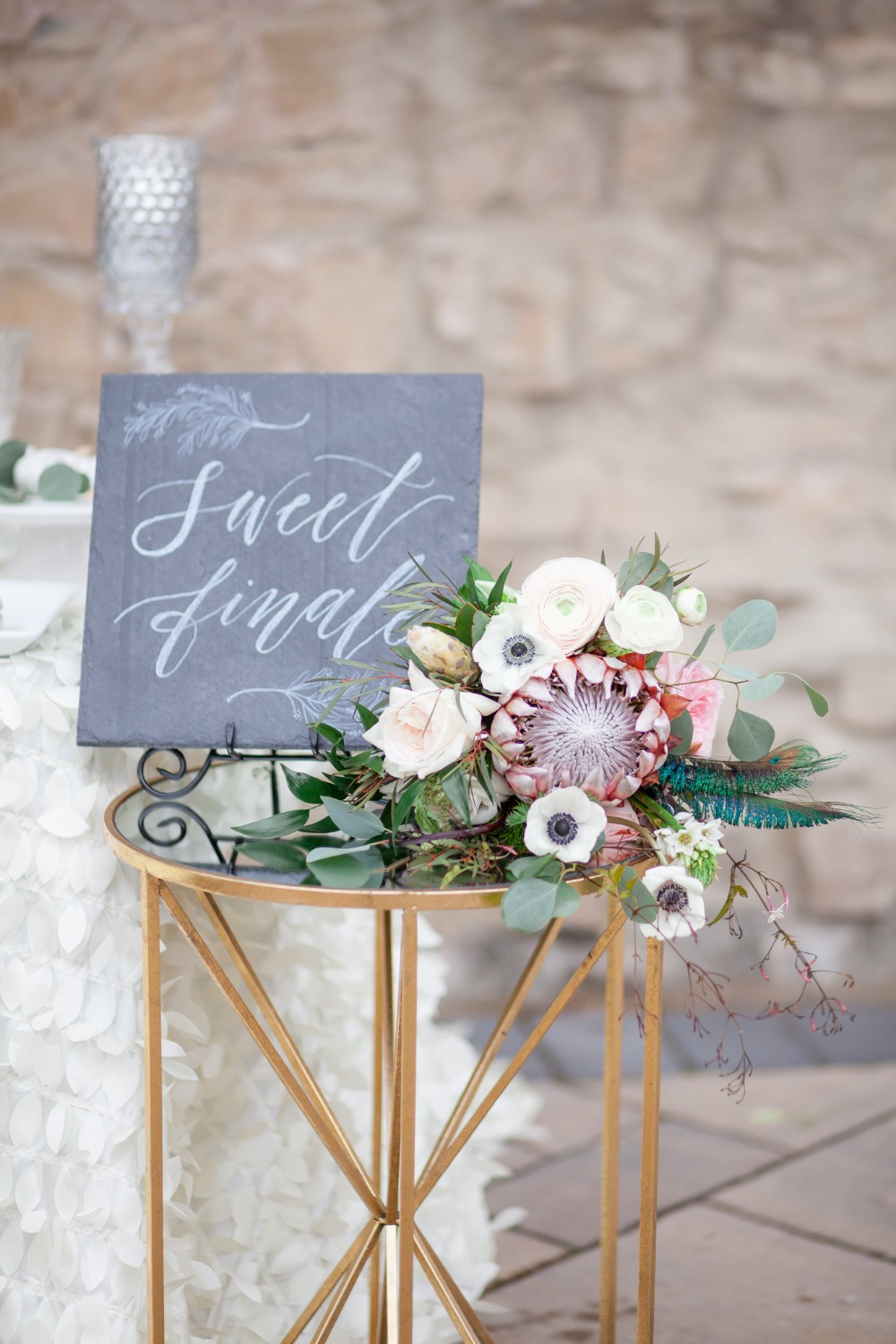 sweet finale wedding sign