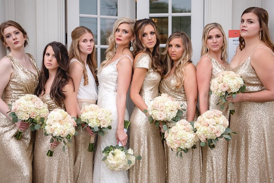 """Raise your hand if a stone faced picture is a """"must have"""" on your wedding day.🙋♀️🤣"""