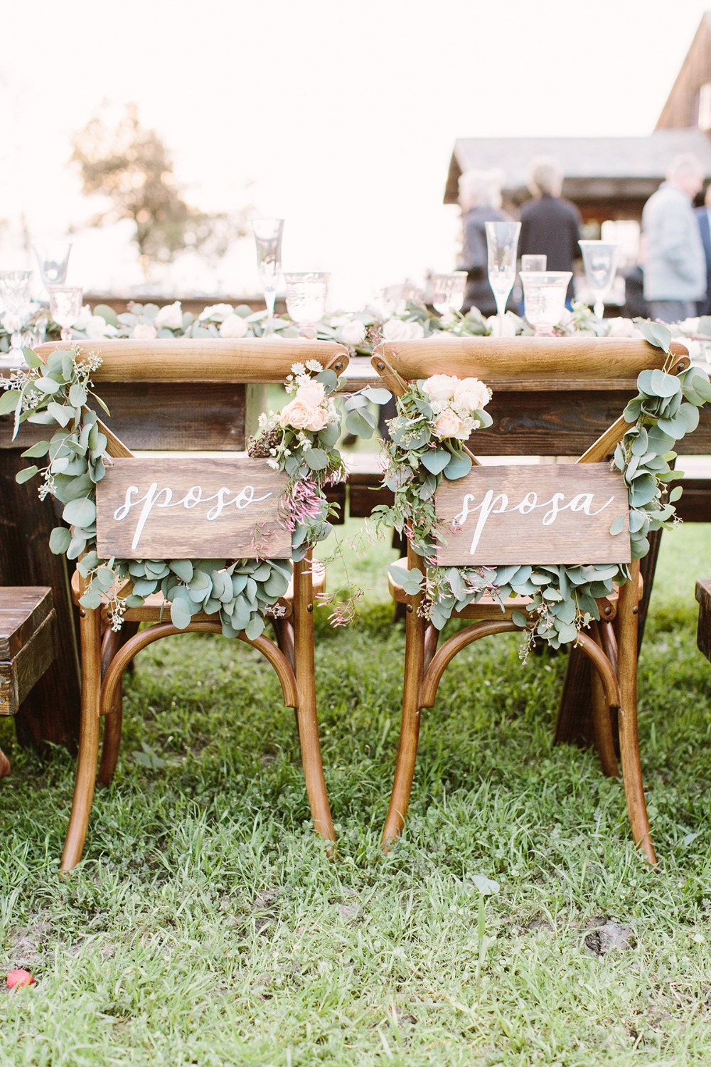 italian wedding seat signs