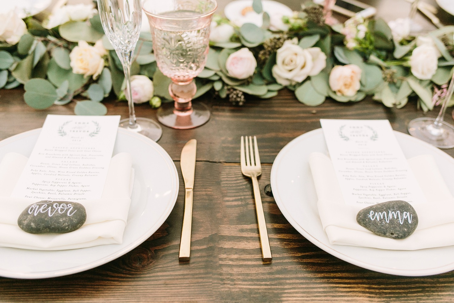 rustic chic wedding place setting