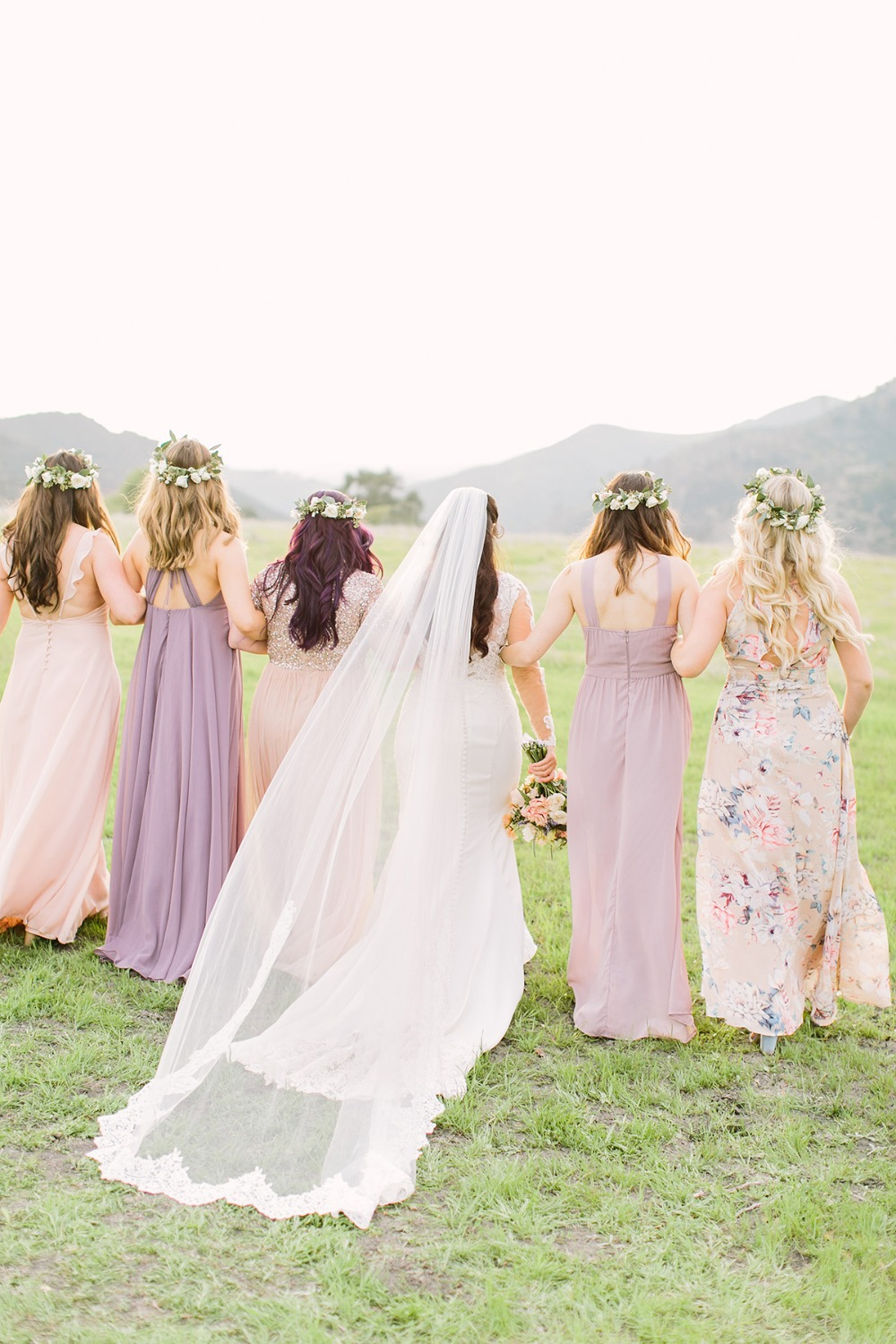 mismatched bridesmaid styles