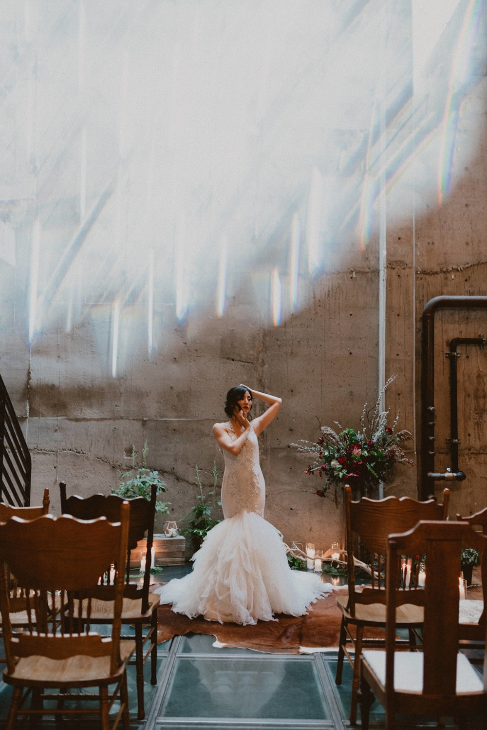 unique light and dramatic venue space