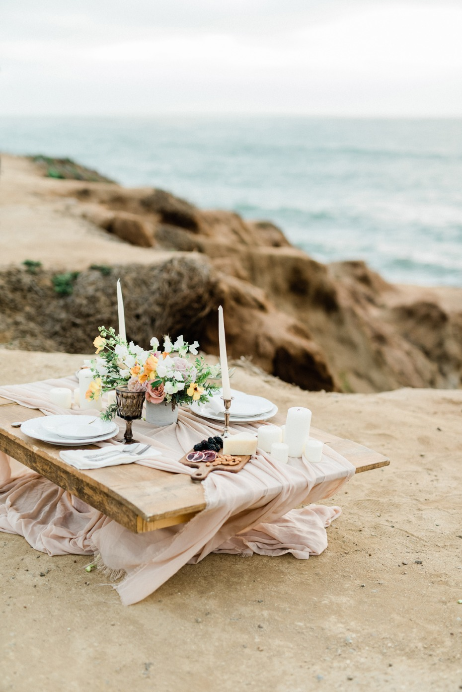 intimate elopement sweetheart table